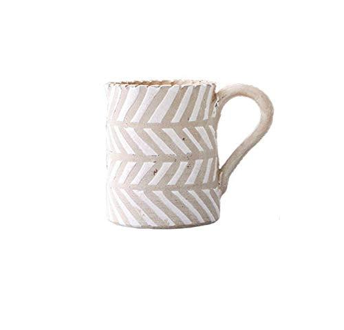 LJXLXY Einfache Blattmuster Dosen Handgemachte Tontopf Vase Kreative Keramik Blume Nordic Wohnzimmer Schreibtisch Dekoration Kleine Vase