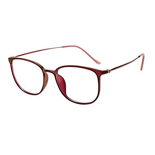 Haodasi Frau Männer Groß Oval Rahmen Leichtgewicht Brillen TR90 Voller Rahmen Dünner Rahmen Brille Schüler Kurzsichtigkeit Linsen Stärke -0.5~-6.0 (Dies sind keine Lesebrillen)