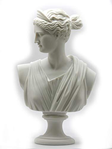 Artemis diosa Diana–Busto cabeza griego romano estatua escultura 11,8΄ ΄