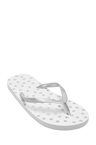 next Fille Tongs (Fille) Coupe Standard Blanc Spot