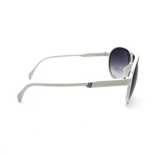 UV400 Protection grenouille style lunettes de soleil lentilles gris pour les enfants White