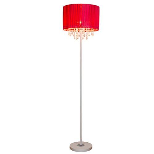 Lampadaire Modern minimaliste salon européen cristal créatif chambre à coucher chambre à coucher verticale lampe au sol rouge KUN PENG SHOP