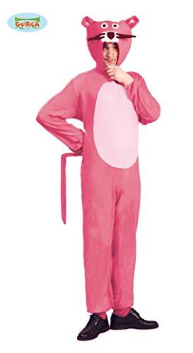 Panther Kostüm für Erwachsene Tierkostüm Herrenkostüm Katzenkostüm Pink gr. M - L, Größe:L (Panther Kostüm Pink)