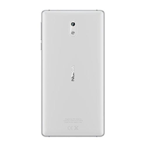 Nokia 3 SIM doble 4G 16GB Blanco - Smartphone  12 7 cm  5    16 GB  8 MP  Android  7 0 Nougat  Blanco