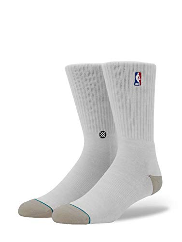Stance Herren NBA Logoman Crew Ii Socken, White, M -