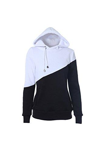 À manches longues Loose Casual Hooded Sweatshirt de Womne Black