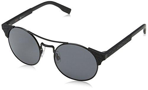 Boss orange bo 0280/s ir 003, occhiali da sole unisex-adulto, nero (matt black/grey bluee), 52