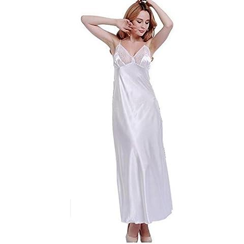 LIUDOULargos vestidos banquete vestido novia encaje elegante fiesta emulación seda albornoz , 3# ,