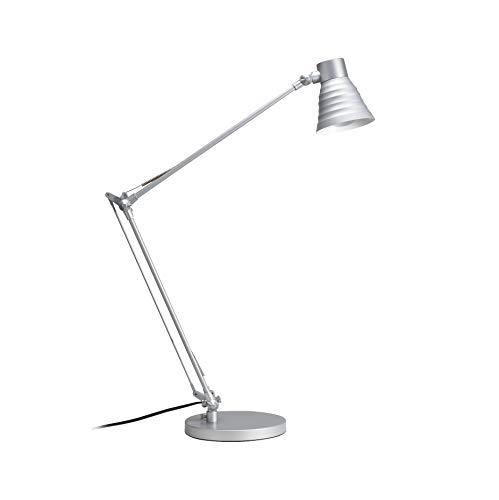 Paulmann 77025 Table&Desk Lampe de bureau Sara, max. 1x60W, E14, Argent, 230V, Métal
