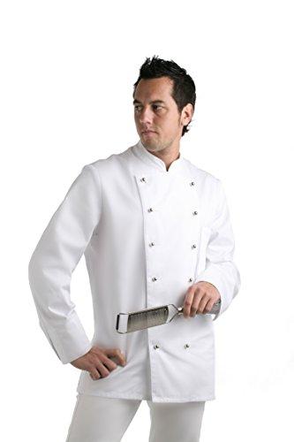 Novaplus Kochjacke Bäckerjacke Kochbekleidung weiß langarm mit Kochjackenknöpfe