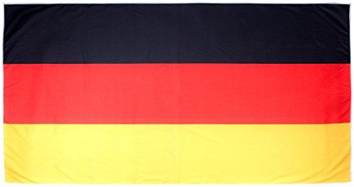 PEARL Mikrofaser-Sport-Handtuch mit Lehnen-Überzug und Tasche, 50 x 100 cm (Badetuch Deutschland), Kunstfaser Black 180x90 cm