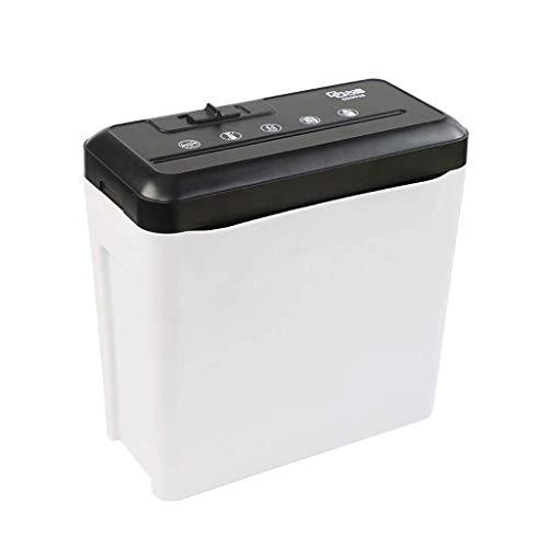 Aktenvernichter Automatisierte Büro- und Heimautomation Partikel Elektronisches Dokumentenpapier Desktop-Kunststoff (Color : White, Size : 30 * 16 * 29cm)
