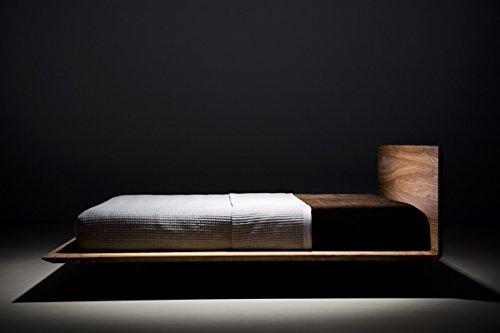 MAZZIVO Slim Hochwertiges Holz Bett Schlicht & Zeitlos filigran Modern Edel & Elegant - Italienisches Design 120 140 160 180 200 Überlänge Eiche Erle Buche Esche Kirschbaum (Eiche, 200 x 210 cm) -
