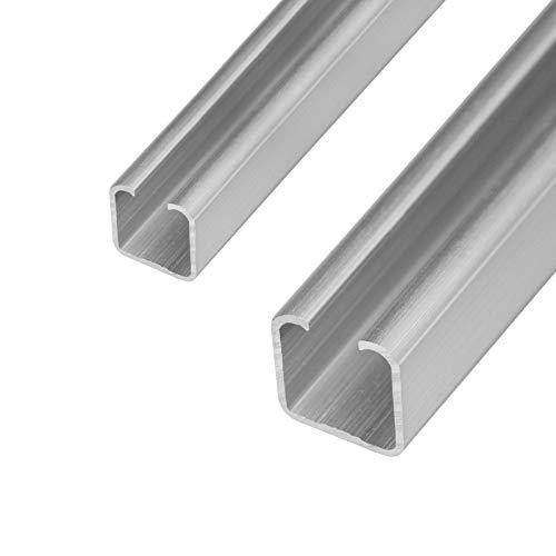 Schiebetür Laufschiene C- Profil 20&25mm Länge 2m in 2 Grössen und 2 Stärken wählbar (25mm, Materialstärke 2mm)