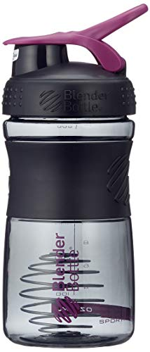 BlenderBottle Sportmixer Tritan Shaker   Protein Shaker   Wasserflasche   Diät shaker Black - Plum (20oz / 590ml) - Oz Mixer Flasche 20