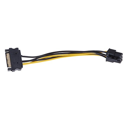 Segolike SATA Power Adapter Cord SATA 15-Pin to 6-Pin PCI Express Card Power Cables  available at amazon for Rs.275