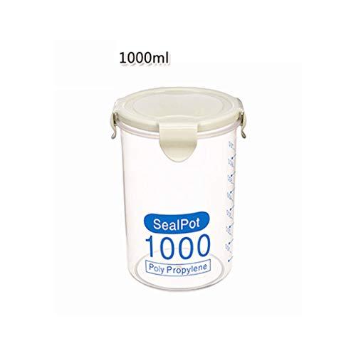 Woody Tee-box (Coconano 1 Stück DurchsichtigSchüttdosen Behälter Acryl Kunststoff Lagerung Gläser Kanister Set Mit luftdichtem Deckel, für Zucker, Tee, Kaffee, Snacks -(Verde,1000ML))