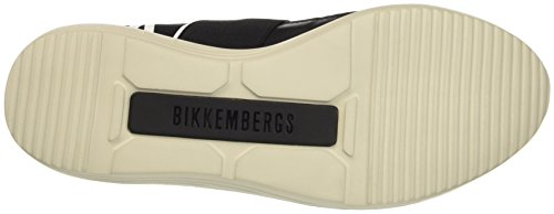 Bikkembergs Speed 583 Low Shoe M Lycra/Leather, Pompes à plateforme plate homme Noir - noir