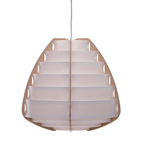 DESIGN DELIGHTS Lampe à Suspendre « NIDO » - 43 cm, Blanc, Plastique - Suspension - Plafonnier