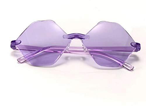 KnSam Polarisierte UV400 Schutz Ultraleicht Rahmen Hexagon Unisex Lila Sonnenbrillen Fahrerbrille