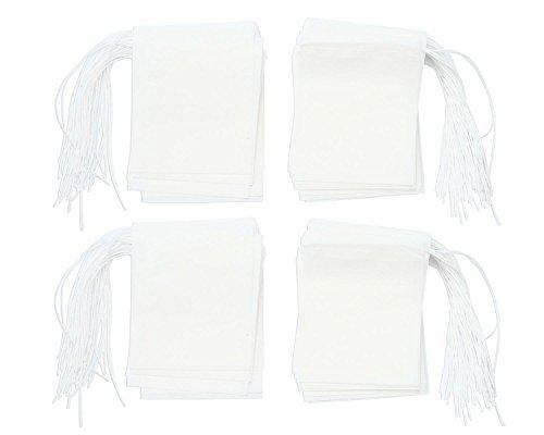 niceEshop(TM) Bolsas de Papel del Filtro de Té de Bombeo Línea de Desechable (Blanco, L Tamaño, Conjunto de 200)
