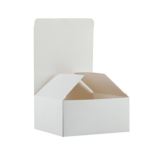 RUSPEPA 30 Pack 10,5 X 10,5 X 5,2 Cm Recycling-Karton Geschenk-Boxen Mit Deckel Für Armbänder, Schmuck Und Kleine Geschenke (Weiß)