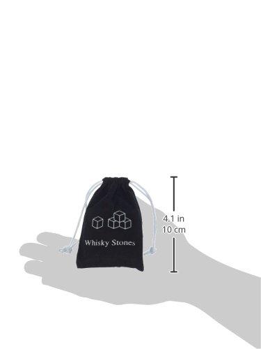 """Ganzoo Whisky-Steine aus natürlichem Speckstein (grau) im 9er Set für Getränke """"on the rocks"""", Kühlsteine im praktsichen Stoffbeutel"""