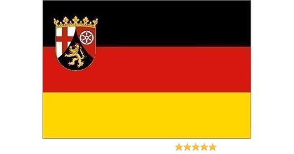 Fahne Rheinland Pfalz Hissflagge 90 x 150 cm mit 2 Ösen Flagge