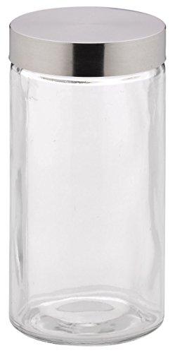Kela 17868 Vorratsdosen-Set, 4-teilig, Glas mit 18/10 Edelstahl-Deckel, Rund, 1,7 l, Bera