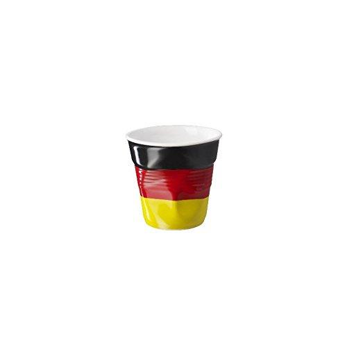 6 tasses froissées expresso drapeau allemand Revol 8 cl