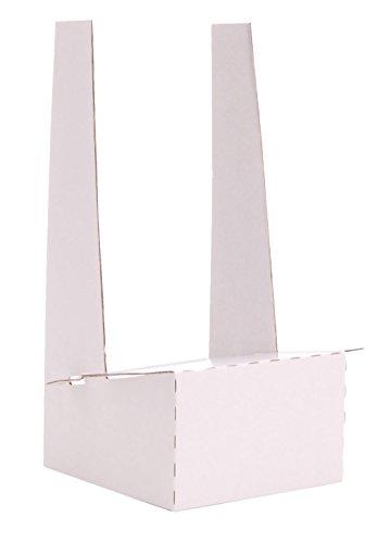 JR Distribution Limited - Expositor de sobremesa de cartón (10 unidades), color blanco