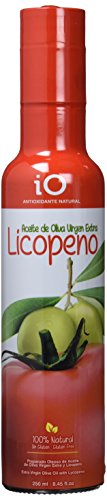 iO Aceite de Oliva Virgen Extra con Licopeno Antioxidante Natural - Paquete de 12 x 511.25...