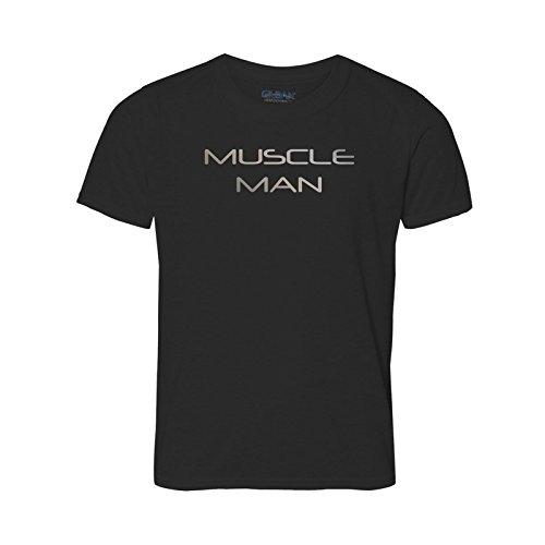 Ultimate T-Shirt Muscle Man. Große Reflektierende Text für Big Strong Gewicht ligfting Muskel Herren. Look Great. Show ABS Bizeps. Keine Weicheier. Nur Gruppen,. Schwarz