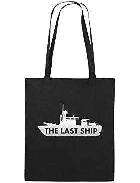 Comedy Bags - THE LAST SHIP - Jutebeutel bedruckt, Baumwolltasche zwei lange Henkel aus 100 % Baumwolle in 38x42cm...