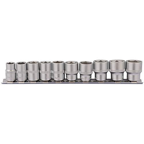 Draper 16400 Steckschlüsselsatz mit Vierkantantantrieb, auf Metallschiene, 3/8 Zoll Länge, 10-teilig