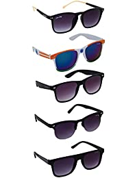 Silver Kartz Best Selling Gift Pack of UV 400 Protection Unisex Sunglasses Pack of 5 ||aio5||