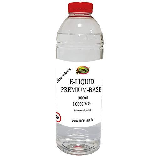m E Liquid Base 100VG /0PG für viel Dampf 1L PUR Glycerin Vape OHNE Nikotin 0 1000 ml ... ()