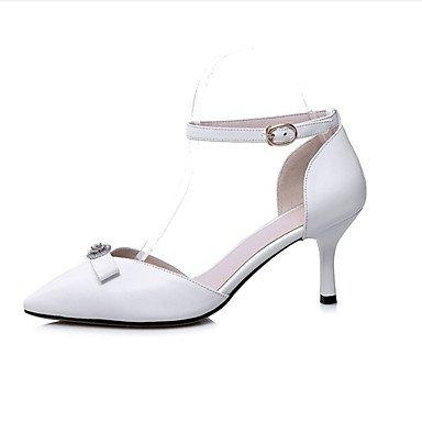 LvYuan Damen-Sandalen-Büro Kleid Party & Festivität-LederClub-Schuhe-Schwarz Weiß Black