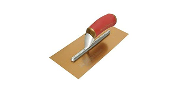 Dura Soft Handle Long Mounting MARSHALLTOWN The Premier Line 4681DFDL 13-Inch by 5-Inch Gold Stainless Steel DuraFlex Trowel