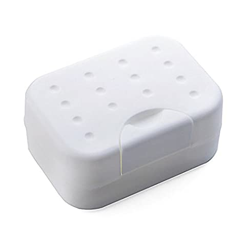 erthome Bathroom Products New Brand Travell Soap Dish Box Case Holder (white)