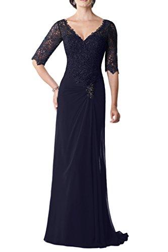 Milano Bride Elegant Chiffon Spitze VAusschnitt Abendkleider ...