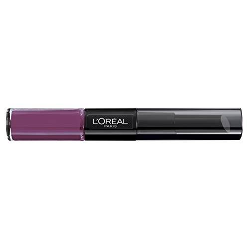 L'Oreal Paris Lippen Make-up Infaillible Lippenstift 209 Violet Parfait/Liquid Lipstick für 24 Stunden volle Lippen mit feuchtigkeitsspendendem Lippenpflege - Balsam 1er Pack