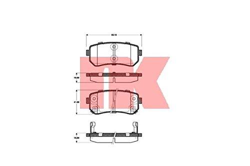 NK 223521 Pastiglie freno, freno a disco