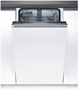 Bosch Serie 2 SPV25CX00E Totalmente Integrado 9cubiertos A+ lavavajilla - Lavavajillas (Totalmente Integrado, Blanco, Estrecho (45 cm), Negro, Botones, 1,75 m)