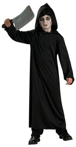 Horror Robe - Halloween - Kinder-Kostüm - Medium - - Black Robe Kostüm Großbritannien