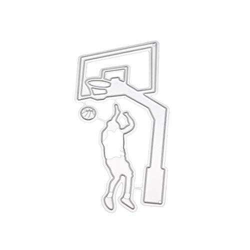 JunYe Spielen Basketball Metall Stanzformen Schablone DIY Scrapbooking Album Stempel Papier Karte Präge Craft Decor -