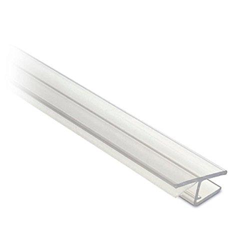 Lippendichtung für Glastür, Frontanschlag 180°, L 2500 mm für Glasstärke 8 mm