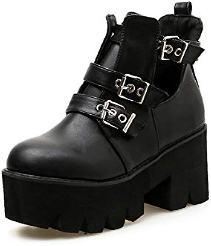 YXIAOL - Stivali da Donna Donna Donna per Autunno e Inverno, con Fibbia Spessa e Fondo in Spugna, Nero, 36 | Buon design  fe7789