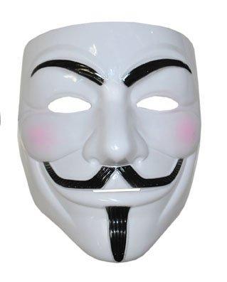 V für Vendetta Maske anonym leichten Kunststoff