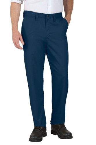 Dickies Littmann Workwear lp700nv Polyester/Baumwolle Relaxed Fit Herren Premium Industrie Flache Vorderseite Komfort Taille Hose mit geradem Bein, Marineblau, 36